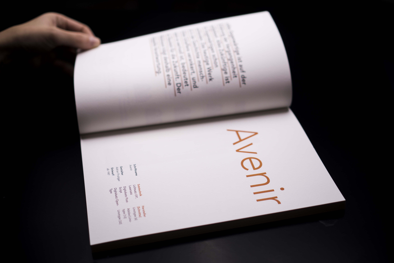 Frutigers Avenir – Typografische Buchgestaltung