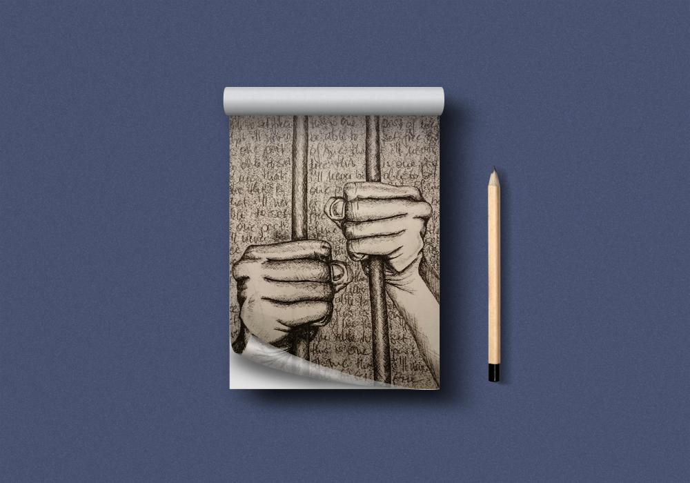 Finelinerzeichnung Hände
