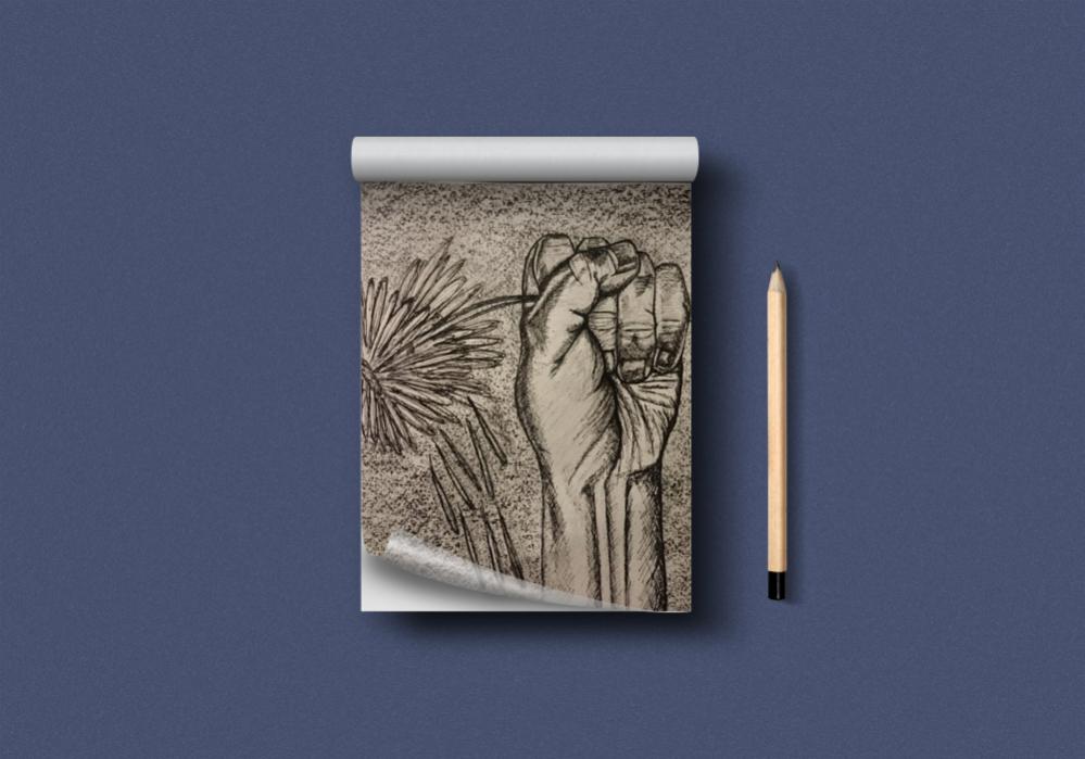 Zeichnung Hand (Fineliner)
